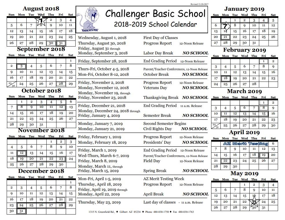calendar challenger basic